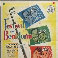 Cine: KY99 FESTIVAL EN BENIDORM CONCHITA VELASCO CIFESA POSTER ORIGINAL 70X100 ESTRENO. Lote 17161661