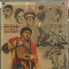 Cine: KZ12 EL BANDIDO GENEROSO MANOLO MORAN GUARDIA CIVIL POSTER ORIGINAL ESTRENO 70X100 LITOGRAFIA. Lote 17162812