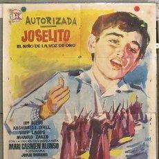 Cine: KZ19 SAETA DEL RUISEÑOR JOSELITO MANUEL ZARZO JANO POSTER ORIGINAL 70X100 ESTRENO. Lote 17175388