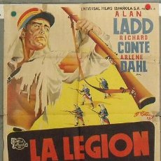 Cine: KZ28 LA LEGION DEL DESIERTO ALAN LADD ARLENE DAHL POSTER ORIGINAL 70X100 ESTRENO LITOGRAFIA. Lote 17175709