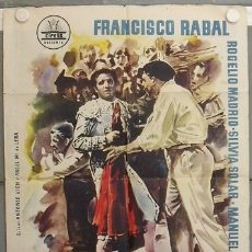Cine: KZ38 LOS CLARINES DEL MIEDO FRANCISCO RABAL TOROS CIFESA POSTER ORIGINAL 70X100 ESTRENO. Lote 17176777