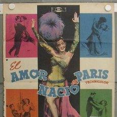 Cine: KZ57 EL AMOR NACIO EN PARIS KATHRYN GRAYSON RED SKELTON ANN MILLER KEEL MCP POSTER 70X100 ESTRENO. Lote 17179927