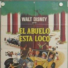 Cine: KZ98 EL ABUELO ESTA LOCO WALTER BRENNAN WALT DISNEY ROLLS ROYCE POSTER ORIGINAL 70X100 ESTRENO. Lote 17201040
