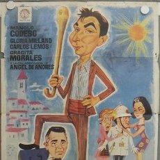 Cine: LC36 AQUI MANDO YO MANOLO CODESO GRACITA MORALES POSTER ORIGINAL 70X100 ESTRENO. Lote 17236027