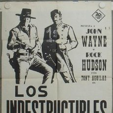 Cine: LC41 LOS INDESTRUCTIBLES JOHN WAYNE ROCK HUDSON POSTER ORIGINAL ESPAÑOL 70X100. Lote 17236113