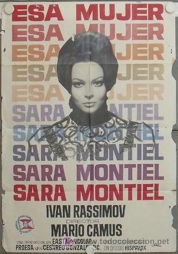 LC45 ESA MUJER SARA MONTIEL MARIO CAMUS POSTER ORIGINAL 70X100 ESTRENO (Cine - Posters y Carteles - Clasico Español)