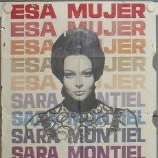 Cine: LC45 ESA MUJER SARA MONTIEL MARIO CAMUS POSTER ORIGINAL 70X100 ESTRENO. Lote 17236278