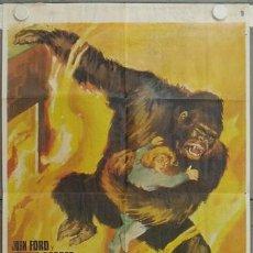 Cine: LC60 EL GRAN GORILA BEN JOHNSON KONG FILM JANO POSTER ORIGINAL 70X100 ESPAÑOL R-68. Lote 17237646