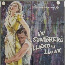 Cine: LA39 UN SOMBRERO LLENO DE LLUVIA EVA MARIE SAINT JANO POSTER ORIGINAL 70X100 ESTRENO. Lote 17202797