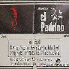 Cine: QA14D EL PADRINO MARLON BRANDO RARO POSTER ORIGINAL ESPAÑOL 55X70 ESTRENO. Lote 110633407