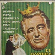 Cine: LA58 EL MARQUES SU SOBRINA Y LA DONCELLA VITTORIO DE SICA SILVIA PINAL POSTER ORIGINA 70X100 ESTRENO. Lote 17216148