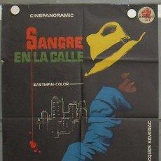 Cine: ZL94D SANGRE EN LA CALLE JEAN SERVAIS MAC POSTER ORIGINAL 70X100 ESTRENO LITOGRAFIA. Lote 17217343