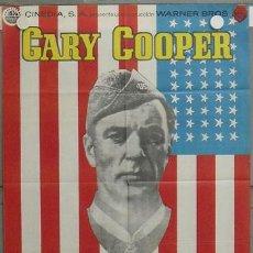 Cine: YU82D SARGENTO YORK GARY COOPER HOWARD HAWKS POSTER ORIGINAL 70X100 ESPAÑOL. Lote 17218722