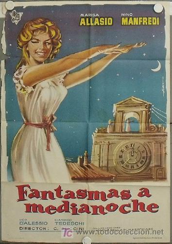 LA88 FANTASMAS A MEDIANOCHE MARISA ALLASIO POSTER ORIGINAL 70X100 ESTRENO (Cine - Posters y Carteles - Terror)