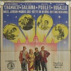 Cine: LA95 ESCUELA DE PERIODISMO TOROS BOXEO CICLISMO POSTER ORIGINAL ESTRENO 70X100 LITOGRAFIA. Lote 17220457