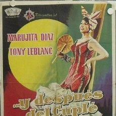 Cine: LA98 Y DESPUES DEL CUPLE MARUJITA DIAZ TONY LEBLANC POSTER ORIGINAL 70X100 ESTRENO. Lote 17220516