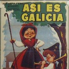 Cine: LC24 ASI ES GALICIA SANTOS NUÑEZ DOCUMENTAL POSTER ORIGINAL 70X100 ESTRENO. Lote 17234796