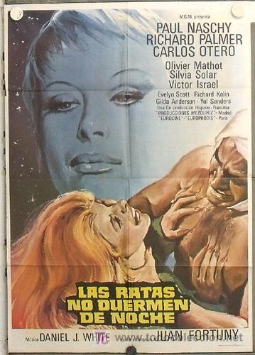 LC88 LAS RATAS NO DUERMEN DE NOCHE PAUL NASCHY POSTER ORIGINAL 70X100 ESTRENO (Cine - Posters y Carteles - Terror)