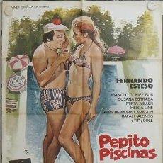 Cine: LD03 PEPITO PISCINAS FERNANDO ESTESO SUSANA ESTRADA POSTER ORIGINAL 70X100 ESTRENO. Lote 17306410