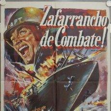 Cine: LD10 ZAFARRANCHO DE COMBATE JEFF CHANDLER LEX BARKER JULIA ADAMS POSTER ORIGINAL 70X100 ESTRENO. Lote 17319921