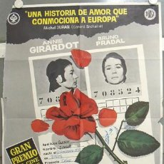 Cine: LD92 MORIR DE AMOR ANNIE GIRARDOT POSTER ORIGINAL 70X100 ESTRENO. Lote 17339316