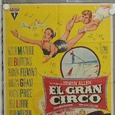 Cine: LE61 EL GRAN CIRCO VICTOR MATURE SOLIGO POSTER ORIGINAL 70X100 ESTRENO LITOGRAFIA. Lote 17359449