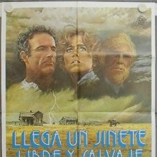 Cine: LE93 LLEGA UN JINETE LIBRE Y SALVAJE JANE FONDA JAMES CAAN POSTER ORIGINAL 70X100 ESTRENO. Lote 17363002