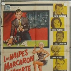 Cine: LZ66 KING OF THE ROARING 20'S DIANA DORS DAVID JANSSEN POSTER ORIGINAL ARGENTINO 75X110 LITOGRAFIA. Lote 18073665