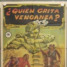 Cine: LF74 QUIEN GRITA VENGANZA ANTHONY STEFFEN MARK DAMON SPAGHETTI POSTER ORIGINAL ESPAÑOL 70X100. Lote 17381355