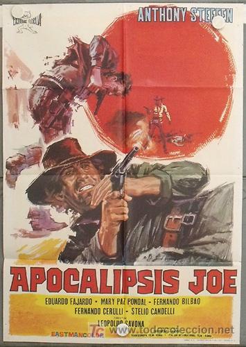 LG42 APOCALIPSIS JOE ANTHONY STEFFEN SPAGHETTI POSTER ORIGINAL 70X100 ESTRENO (Cine - Posters y Carteles - Westerns)