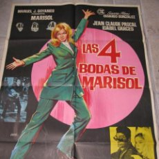 Cine: LAS 4 BODAS DE MARISOL POSTER ORIGINAL 70X100 DEL ESTRENO. Lote 27596426