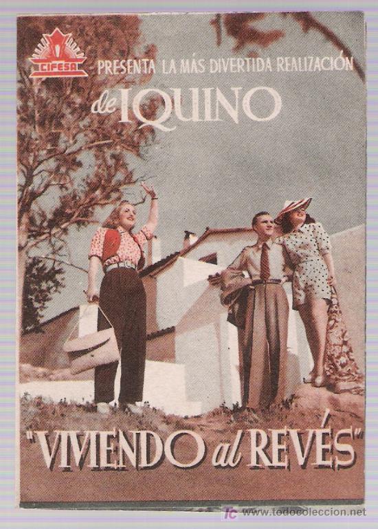 VIVIENDO AL REVÉS. DOBLE DE CIFESA. (Cine - Posters y Carteles - Clasico Español)