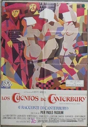 LL70 LOS CUENTOS DE CANTERBURY PASOLINI POSTER ORIGINAL 70X100 ESTRENO (Cine - Posters y Carteles - Comedia)