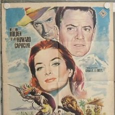 Cine: LL85 EL LEON WILLIAM HOLDEN CAPUCINE MAC POSTER ORIGINAL 70X100 ESTRENO. Lote 17632281
