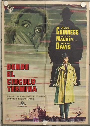 LM03 DONDE EL CIRCULO TERMINA ALEC GUINNESS BETTE DAVIS ALBERICIO POSTER ORIGINAL 70X100 ESTRENO (Cine - Posters y Carteles - Suspense)