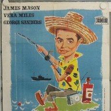 Cine: LM33 OPERACION ROBINSON JAMES MASON VERA MILES GEORGE SANDERS POSTER ORIGINAL 70X100 ESTRENO. Lote 17646543