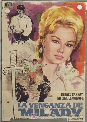 LM37 LA VENGANZA DE MILADY 3 MOSQUETEROS 2 GERARD BARRAY MYLENE DEMONGEOT POSTER ORIG 70X100 ESTRENO (Cine - Posters y Carteles - Aventura)