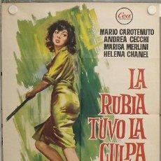 Cine: LM01 LA RUBIA TUVO LA CULPA LUCIO FULCI MARISA MERLINI POSTER ORIGINAL 70X100 ESTRENO. Lote 17646977