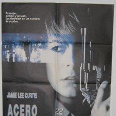 Cine: CARTEL DE CINE ORIGINAL 70X100 ACERO AZUL. Lote 27613737