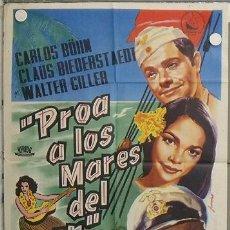 Cine: LM85 PROA A LOS MARES DEL SUR KARLHEINZ BOHM JUANINO POSTER ORIGINAL 70X100 ESTRENO. Lote 17661357