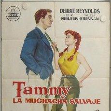 Cine: LN11 TAMMY LA MUCHACHA SALVAJE DEBBIE REYNOLDS LESLIE NIELSEN CIFESA POSTER ORIGINAL 70X100 ESTRENO. Lote 17663663