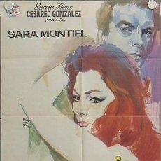Cine: LN19 LA MUJER PERDIDA SARA MONTIEL INMA DE SANTIS POSTER ORIGINAL 70X100 ESTRENO. Lote 17664051
