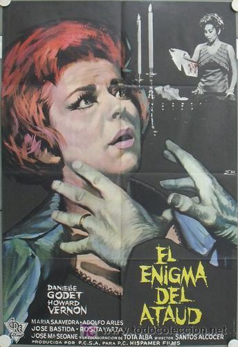 LN35 EL ENIGMA DEL ATAUD SANTOS ALCOCER ORLOFF ESCOBAR POSTER ORIGINAL 70X100 ESTRENO (Cine - Posters y Carteles - Terror)