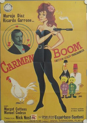 LN45 CARMEN BOOM MARUJITA DIAZ POSTER ORIGINAL ESTRENO 70X100 (Cine - Posters y Carteles - Clasico Español)