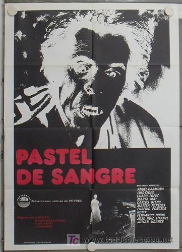 LO13 PASTEL DE SANGRE MARTINEZ LAZARO BELLMUNT CHAVARRI POSTER ORIGINAL 70X100 ESTRENO (Cine - Posters y Carteles - Terror)