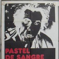 Cine: LO13 PASTEL DE SANGRE MARTINEZ LAZARO BELLMUNT CHAVARRI POSTER ORIGINAL 70X100 ESTRENO. Lote 17732087