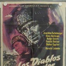 Cine: LP84 LOS DIABLOS VERDES JOACHIM FUSCHSBERGER MONTECASSINO POSTER ORIGINAL 70X100 ESTRENO. Lote 17779387