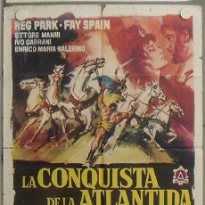 Cine: LP09 LA CONQUISTA DE LA ATLANTIDA REG PARK PEPLUM HERCULES POSTER ORIGINAL 70X100 ESTRENO. Lote 17762146