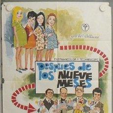 Cine: LP61 DESPUES DE LOS NUEVE MESES CONCHA VELASCO JUANJO MENENDEZ POSTER 70X100 ORIGINAL ESTRENO. Lote 17766176