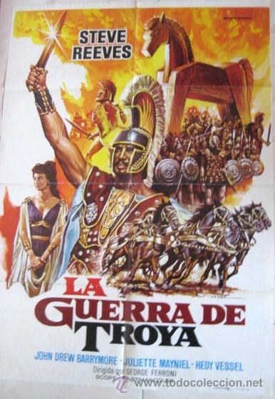 CARTEL DE CINE 1983. - LA GUERRA DE TROYA - ARTISTA: -MAC- ENVIO GRATIS¡¡¡ (Cine - Posters y Carteles - Bélicas)